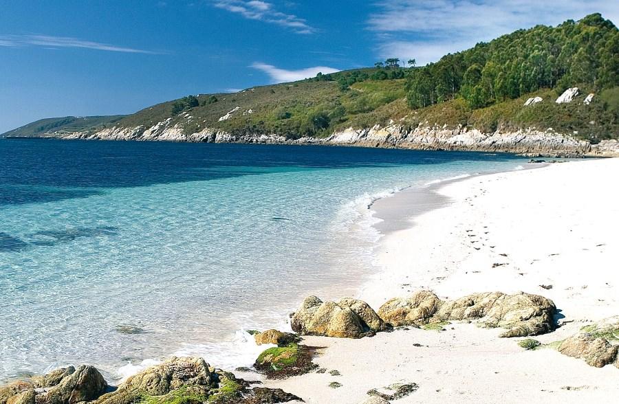 Paradisíaca playa en la Isla de Ons