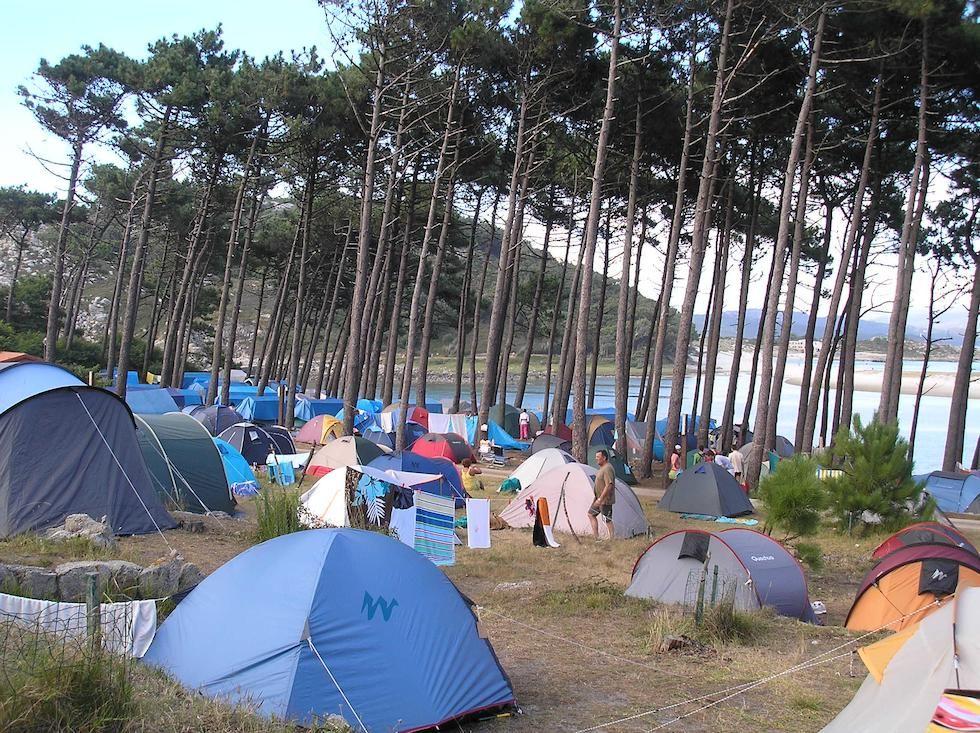 Camping alojamiento en las Islas Cíes