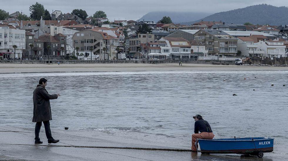 Escena de A praia dos afogados, en la ría de Vigo