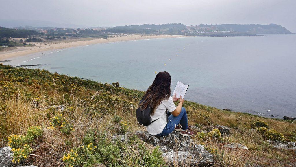 Leyendo por la ría de Vigo con espectaculares vistas