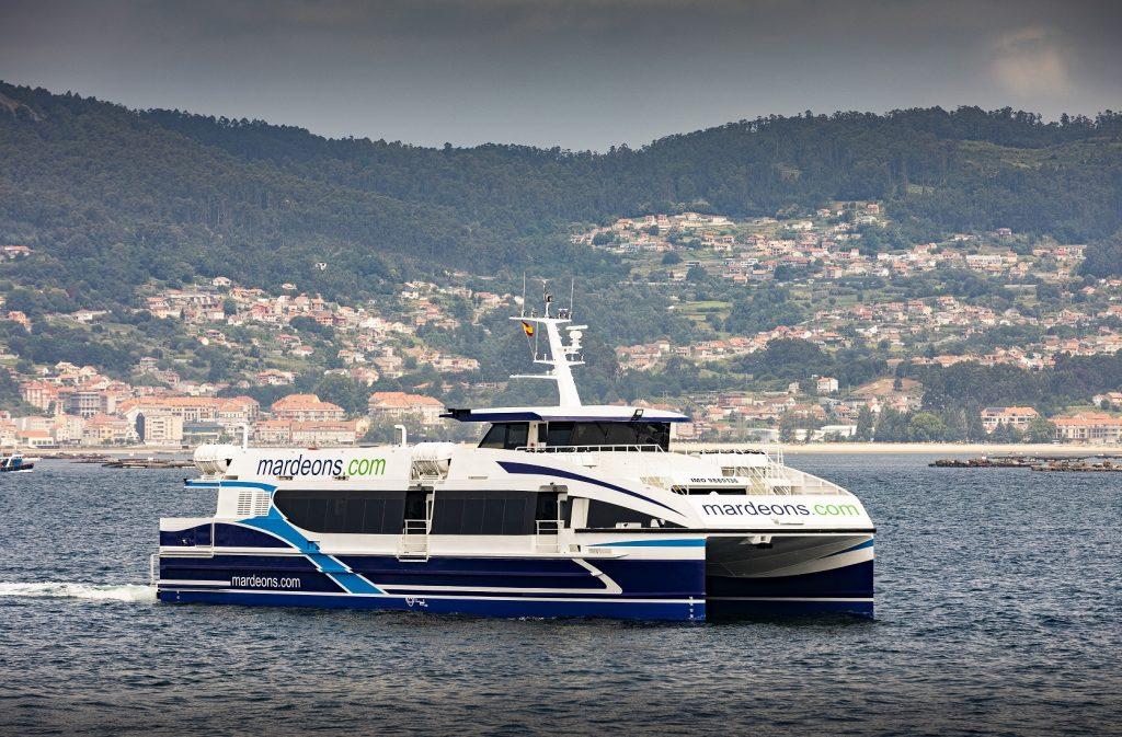 Mar de Cíes, el nuevo barco de la naviera Mar de Ons
