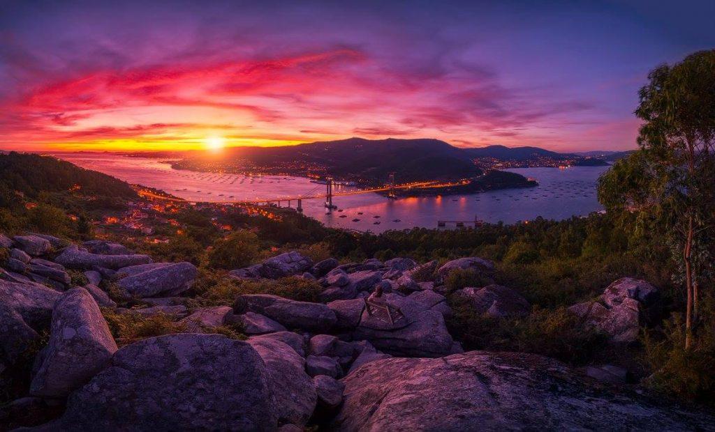 Atardecer Ría de Vigo