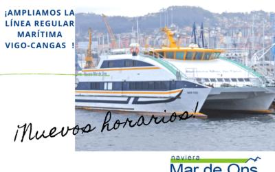 Refuerzo de la línea regular de transporte marítimo entre Cangas y Vigo