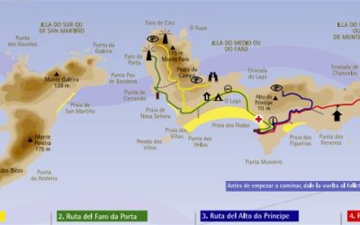 Discover the Cies Islands map and the best places to see